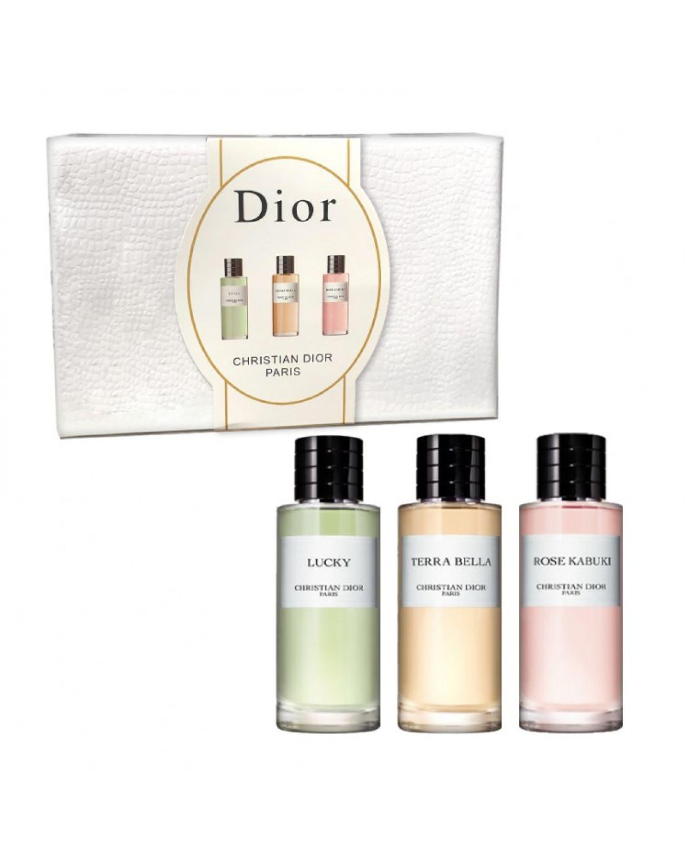 Парфюмерный набор Christian Dior Paris 3 в 1 (Rose Kabuki, Terra Bella, Lucky)