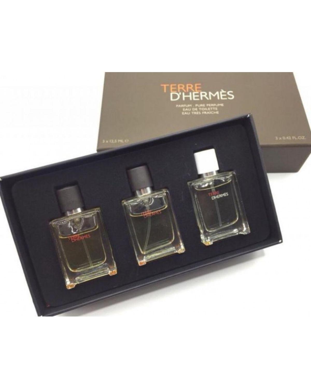 Подарочный парфюмерный набор Hermes Terre D' Hermès 3 в 1